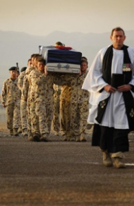 7RAR Soldiers carry CPL Hopkins' casket, Afghanistan